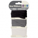 Rubans Sew Ribbon - Assortiment gris