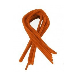 10 Fils chenille orange diamètre 8 mm - 50 cm