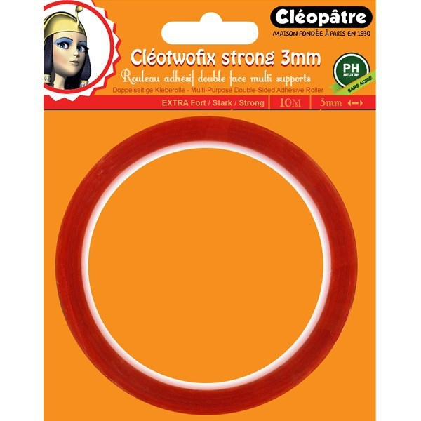 Cleotwofix Adh Sif Double Face Extra Fort 3mm