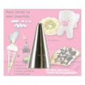 Douille en inox - imitation chantilly - N° 36 - forme mini chantilly