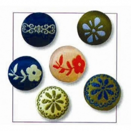 Lot de 6 magnets en tissu NATURE